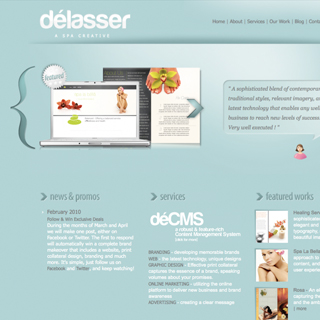 Delasser Spa Creative Branding & Website