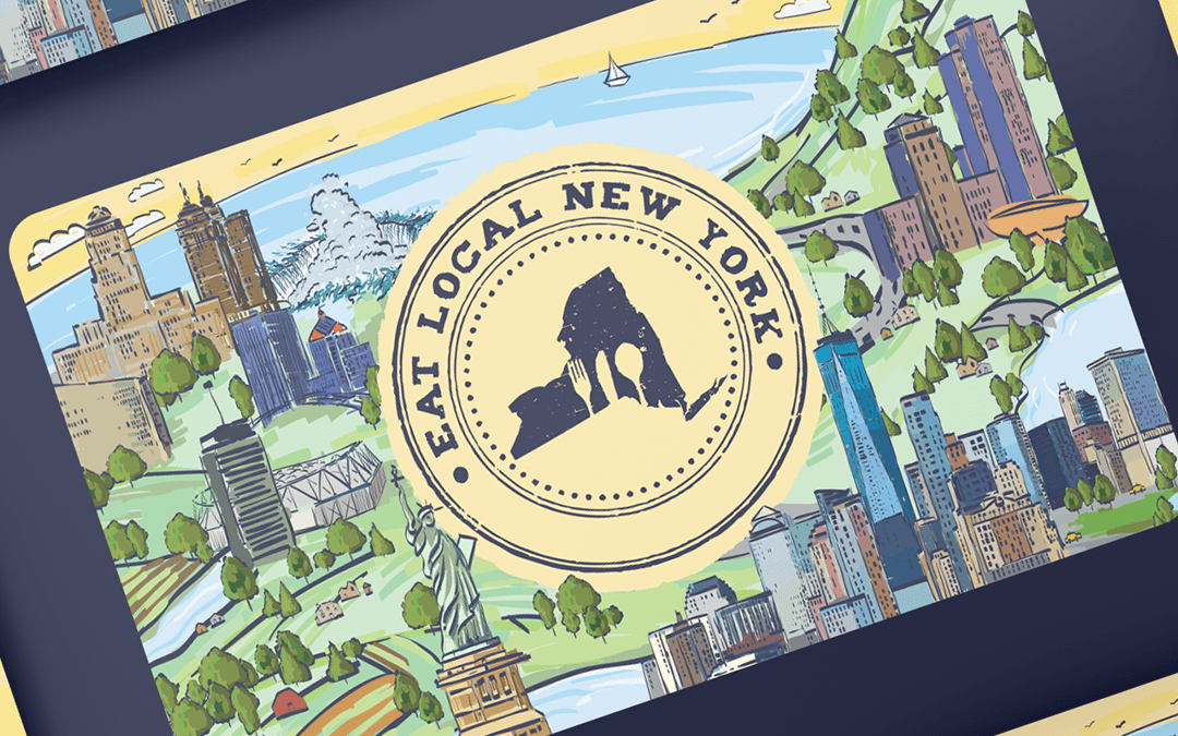 Eat Local New York Card Branding and Design
