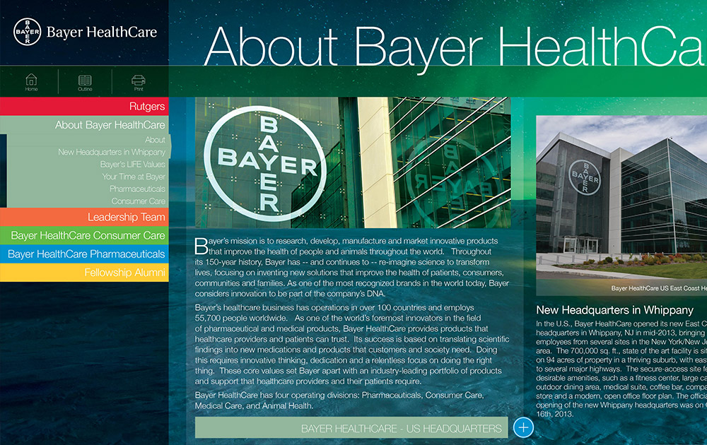Bayer Fellowship Interactive Brochure Design