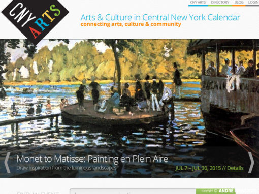 CNY Arts Calendar Web Design