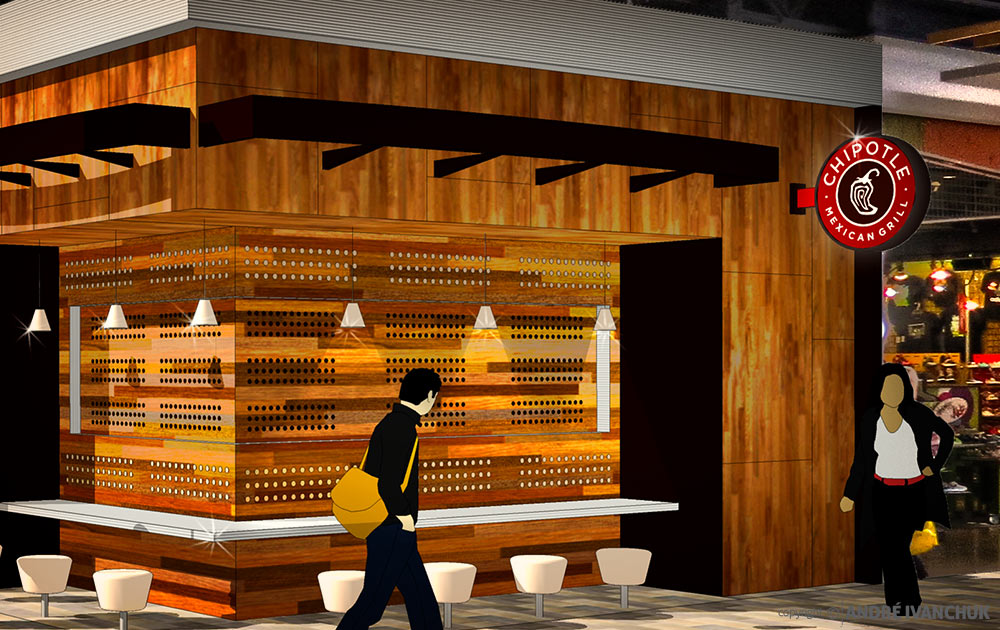 Chipotle for Enclosed Mall Concept Design