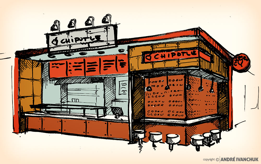 Chipotle-Restaurant-for-Enclosed-Mall-Concept-Design-sketch-2