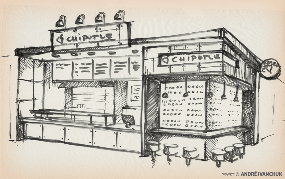 Chipotle-Restaurant-for-Enclosed-Mall-Concept-Design-sketch