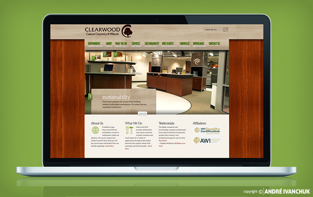 Clearwood Custom Carpentry and Millwok Website
