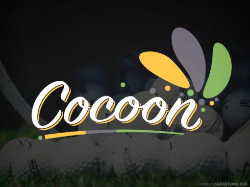 Cocoon Logo Branding for Social Golf Startup