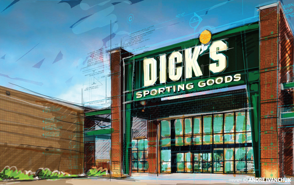Dicks Sporting Goods Concept Rendering