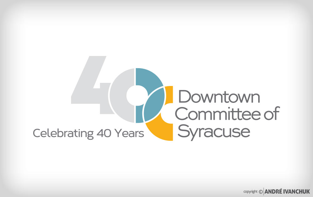 Downtown-Committee-of-Syracuse-40th-Year-Logo
