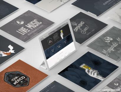 Elephant and the Dove Custom Restaurant Website Design