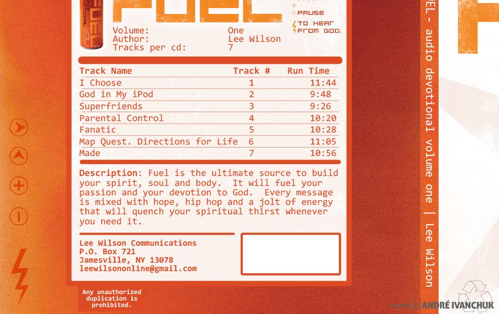 Fuel Lee Wilson Cover Design Back