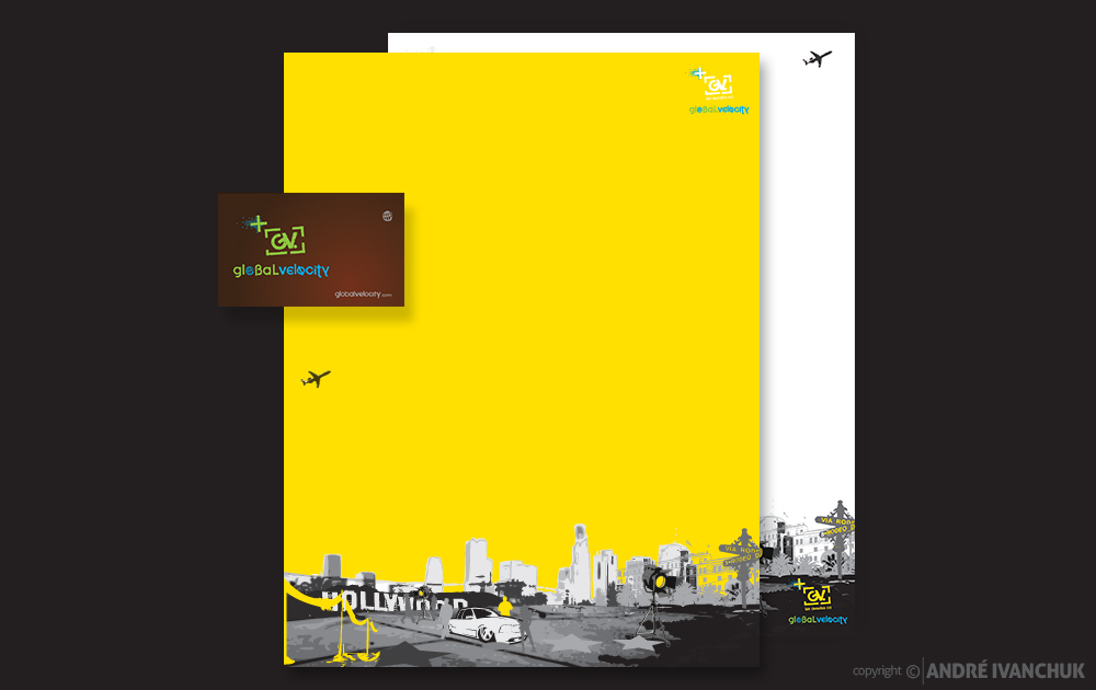 Global Velocity LA Trip Stationery Package