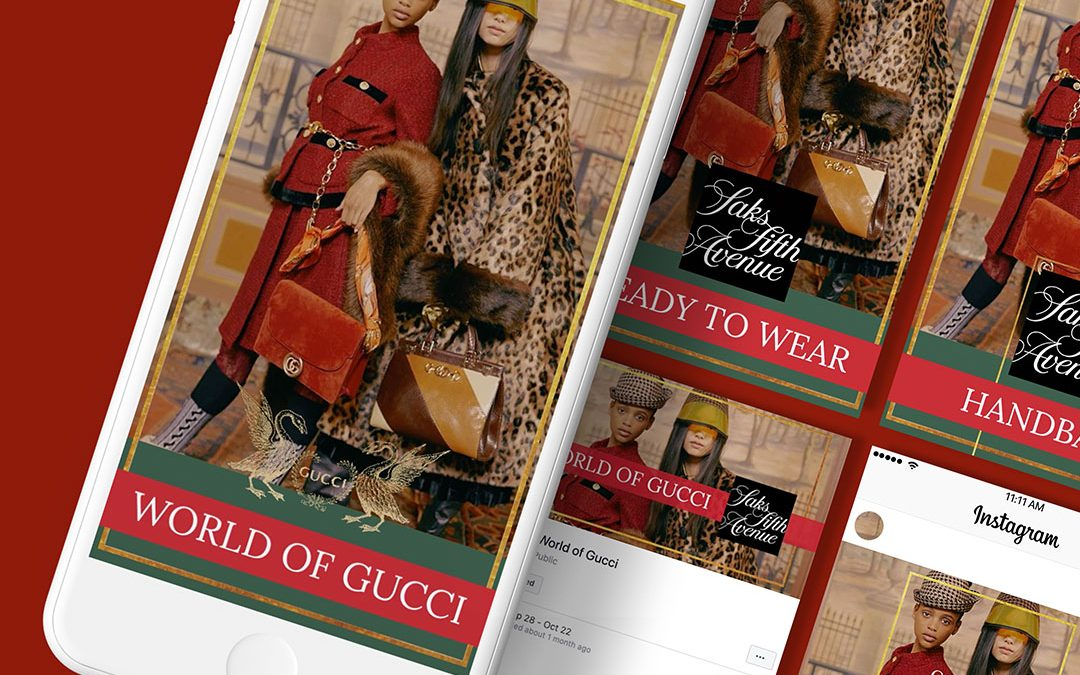 World of Gucci Fall 2019 Social Media Design and Promotion