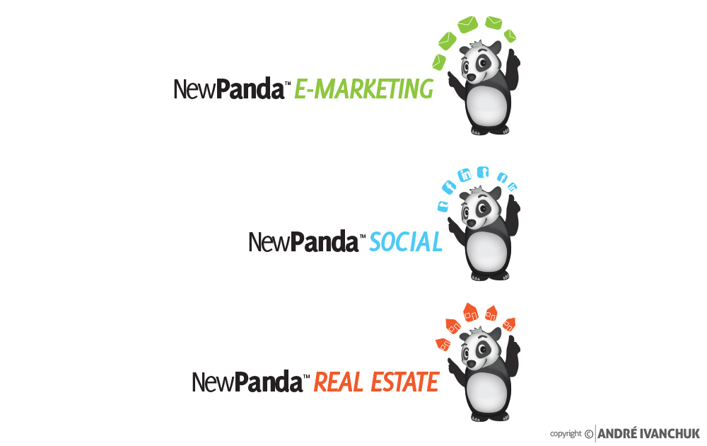 New Panda Marketing Logo Design Branches