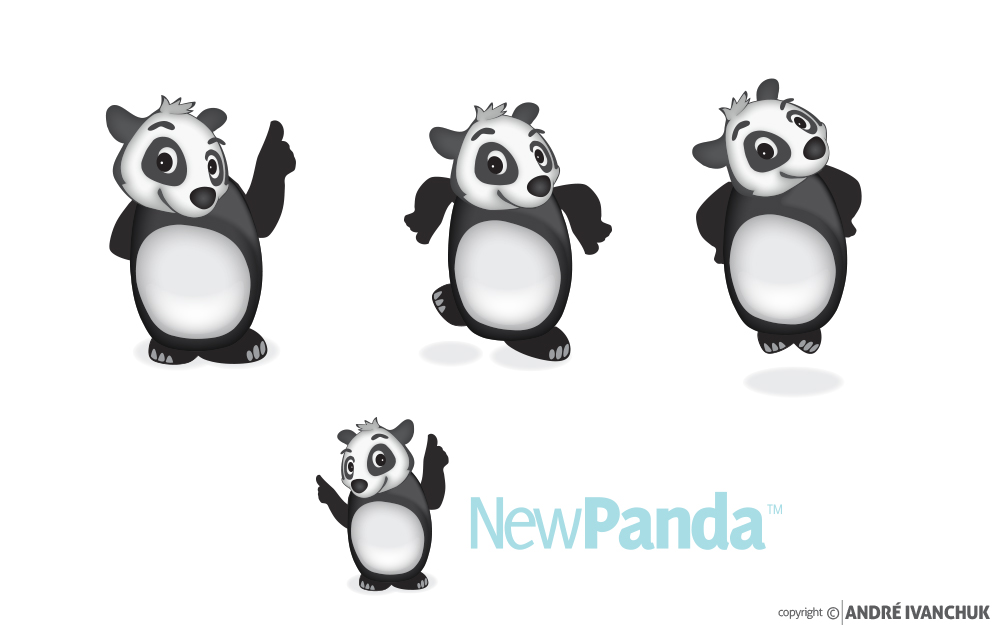 New Panda Marketing Logo Design Options