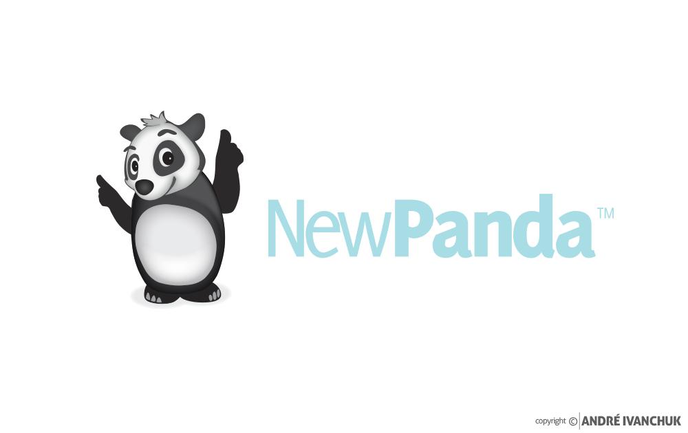 New Panda Marketing Logo Design