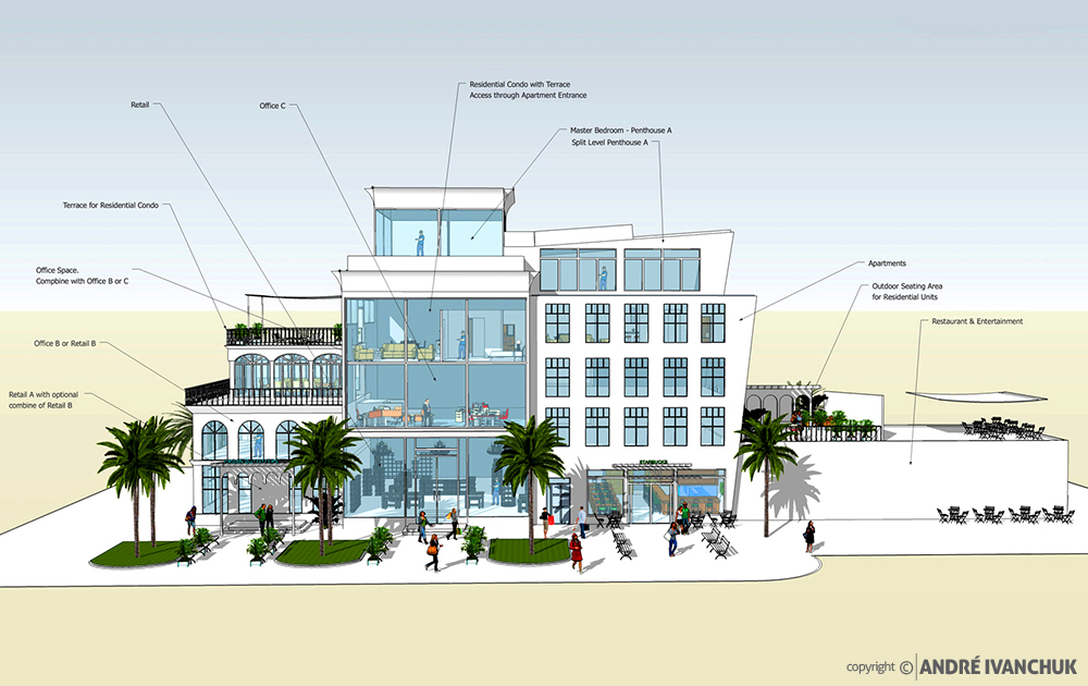 Palm Gardens Development Building Architectural Design Mix Usage Notes