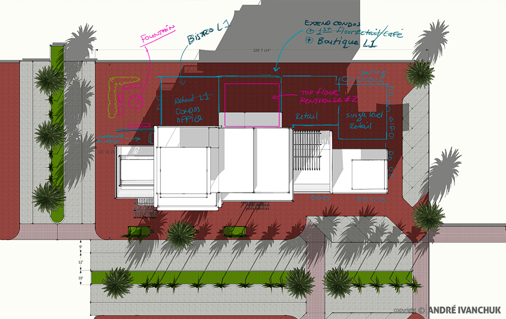 Palm Gardens Development Building Architectural Design Mix Use Notes