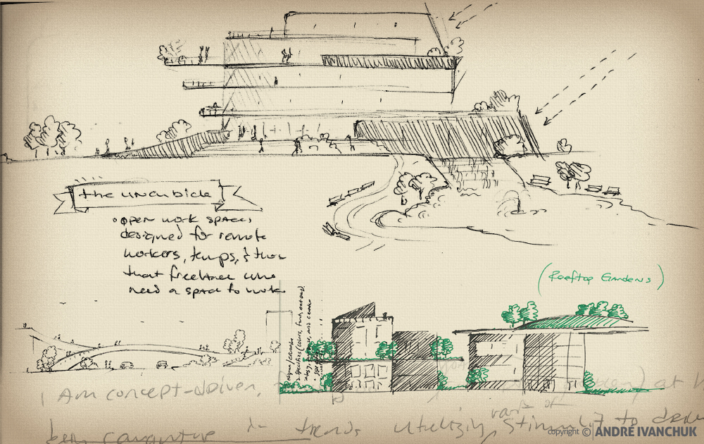 Palm Gardens Development Building Architectural Design Mix Use Options Sketches 2
