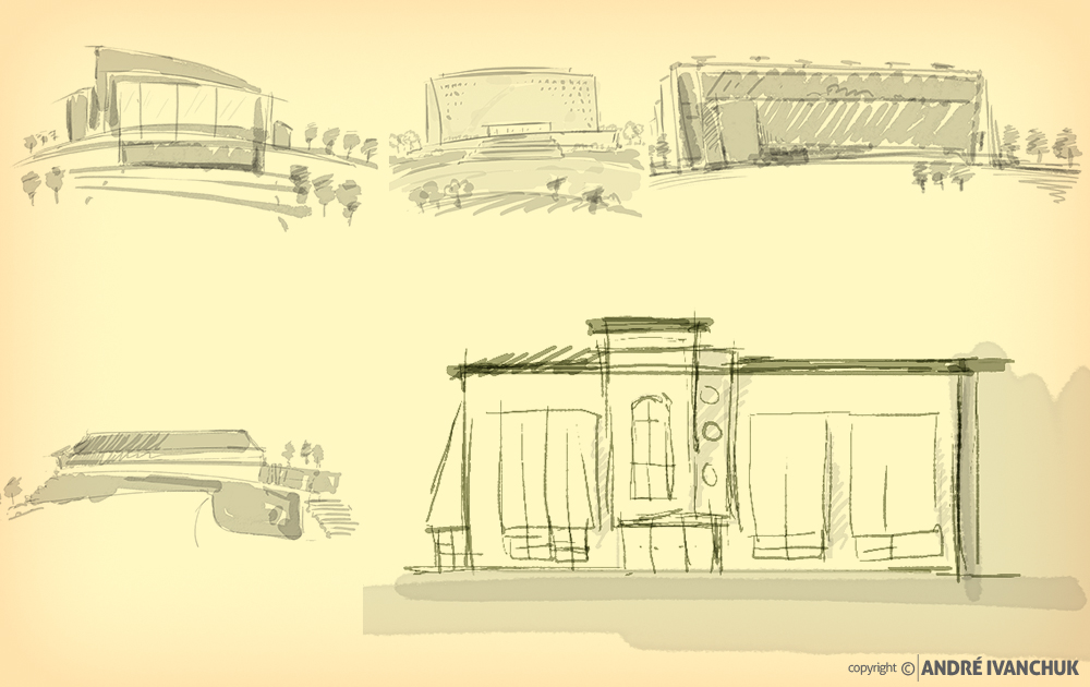 Palm Gardens Development Building Architectural Design Mix Use Options Sketches