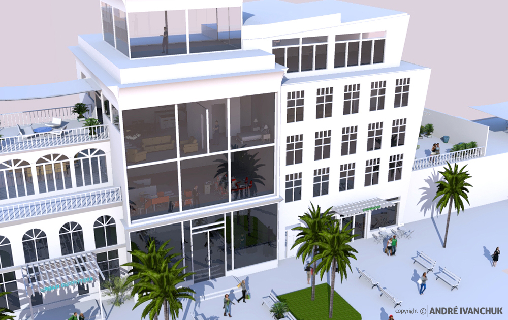 Palm Gardens Development Building Architectural Design Mix Use Rendering 2 Full