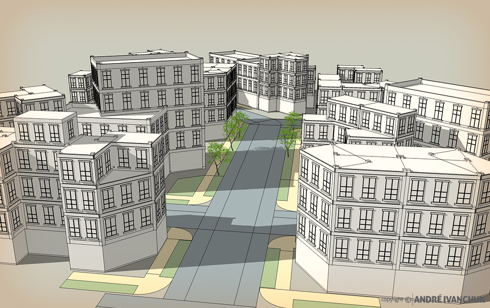 Palm Gardens Development Building Architectural Design Mix Use Study A