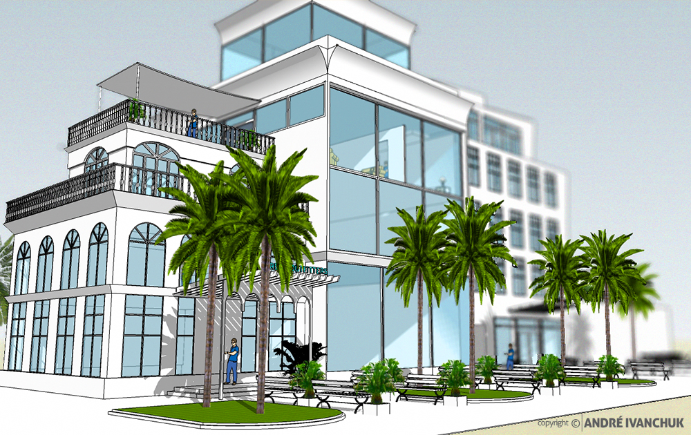 Palm Gardens Development Building Architectural Design Mix Use