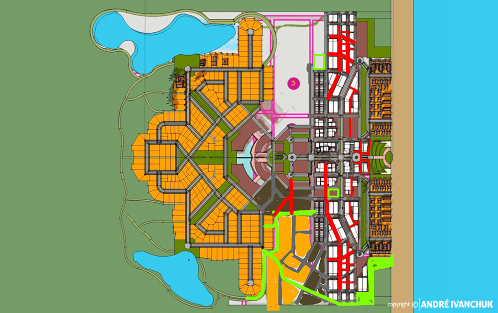 Palm Gardens Development Transect Site Plan Sketch Block Planning Modifications 2