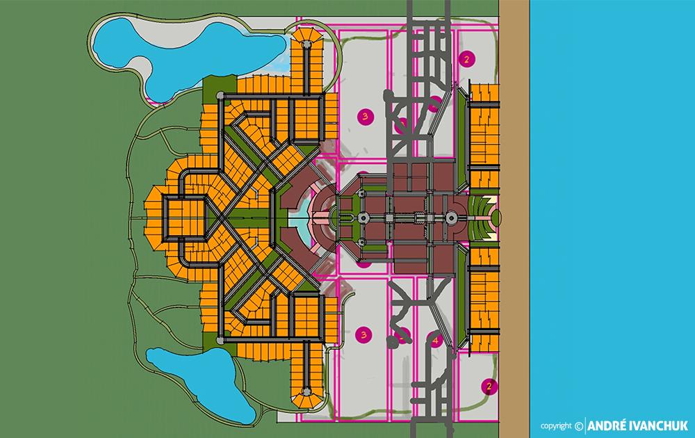 Palm Gardens Development Transect Site Plan Sketch Block Planning Modifications