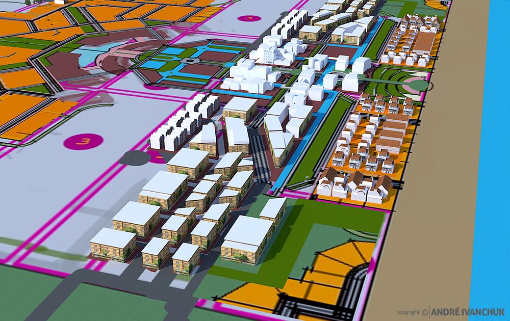 Palm Gardens Development Transect Site Plan Sketch Block Planning