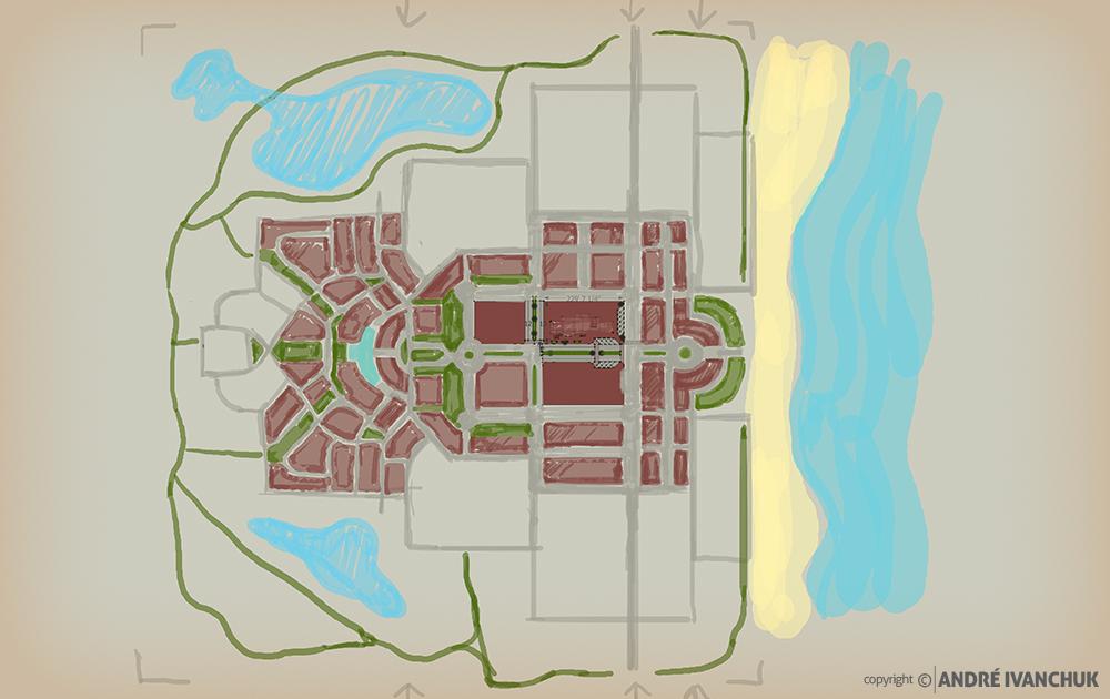 Palm Gardens Development Transect Site Plan Sketch