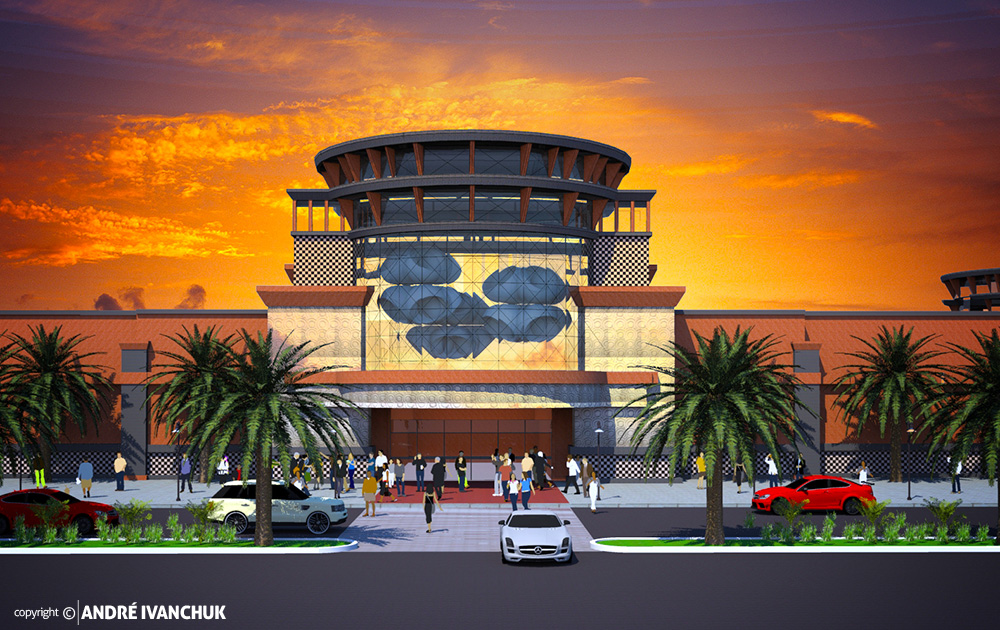 Shops at Beachside Storefront Mall Entrance Design