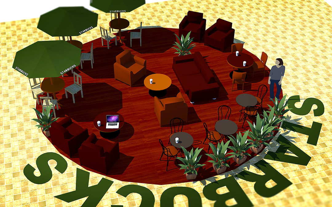 Starbucks Common Area Seating Design