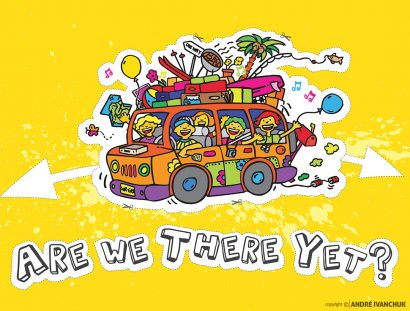 Are We There Yet teaching series artwork design and branding for Ministry