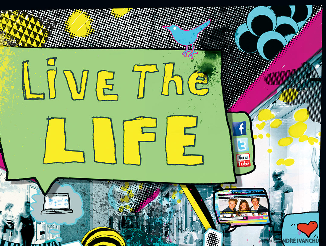 Live The Life Ministry Church Youth Teaching Series Design Branding