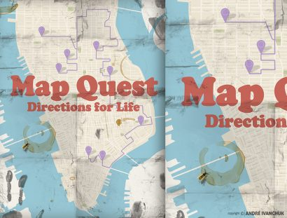 Mapquest Teaching Series Artwork for Youth Ministry Design NYC 2