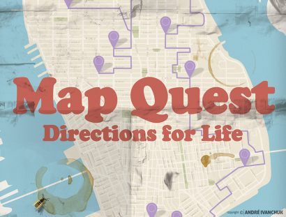 Mapquest Teaching Series Artwork for Youth Ministry Design NYC
