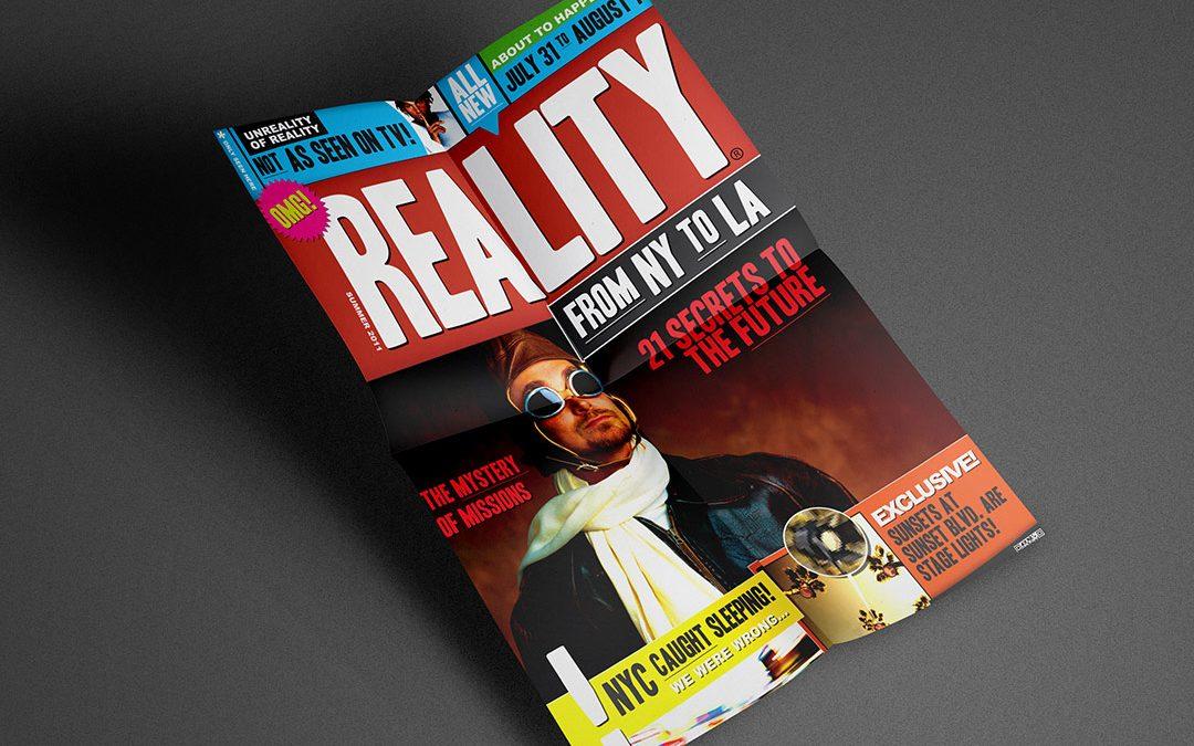 reality ny to la trip series design artwork