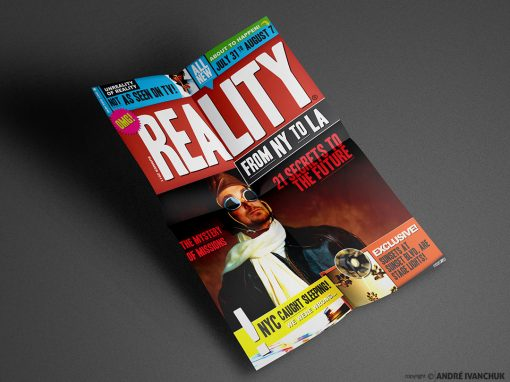 reality ny to la trip series design artwork