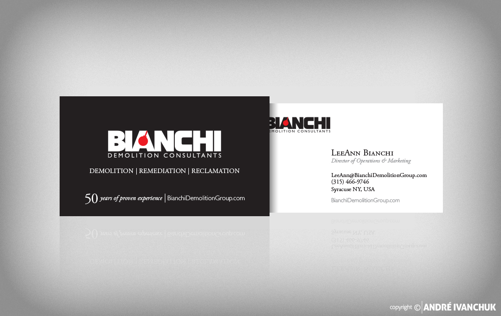 bianchi demolition consultants business cards