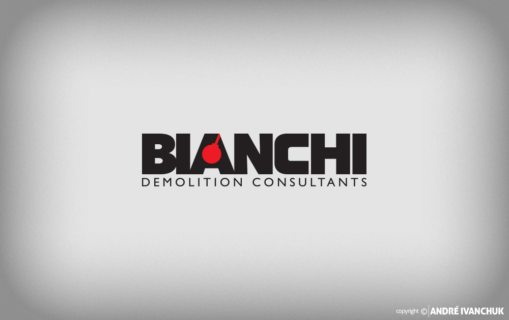 bianchi demolition consultants logo design