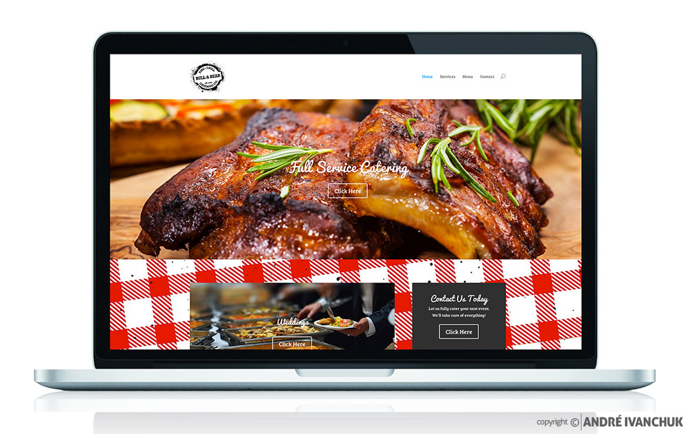Bull & Bear Catering Website Design