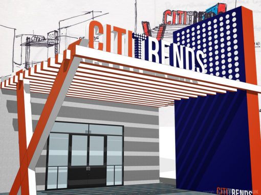 Citi Trends Storefront Mall Entrance Rendering Concept