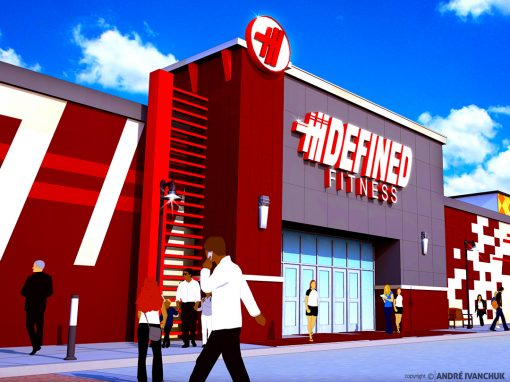 Defined Fitness Storefront Design