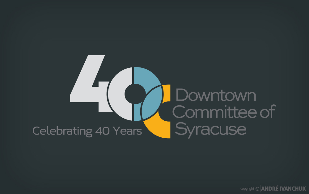 Downtown Committee of Syracuse 40th Anniversary Logo Design