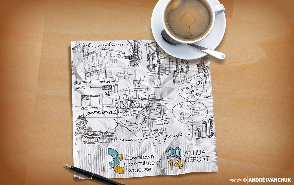Downtown Committee of Syracuse 2014 Annual Report Cover Art