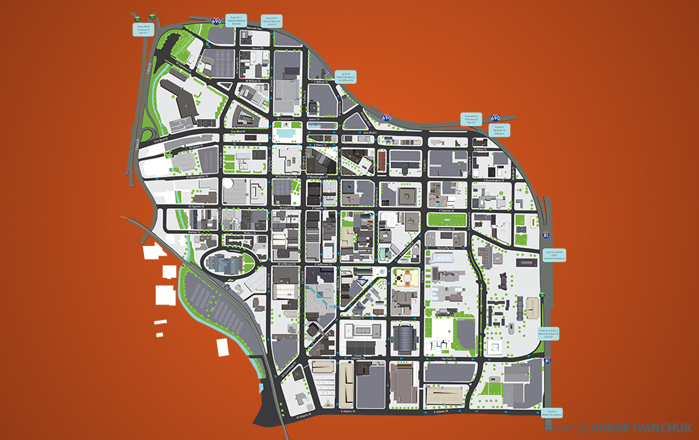 downtown committee of syracuse syracuse map