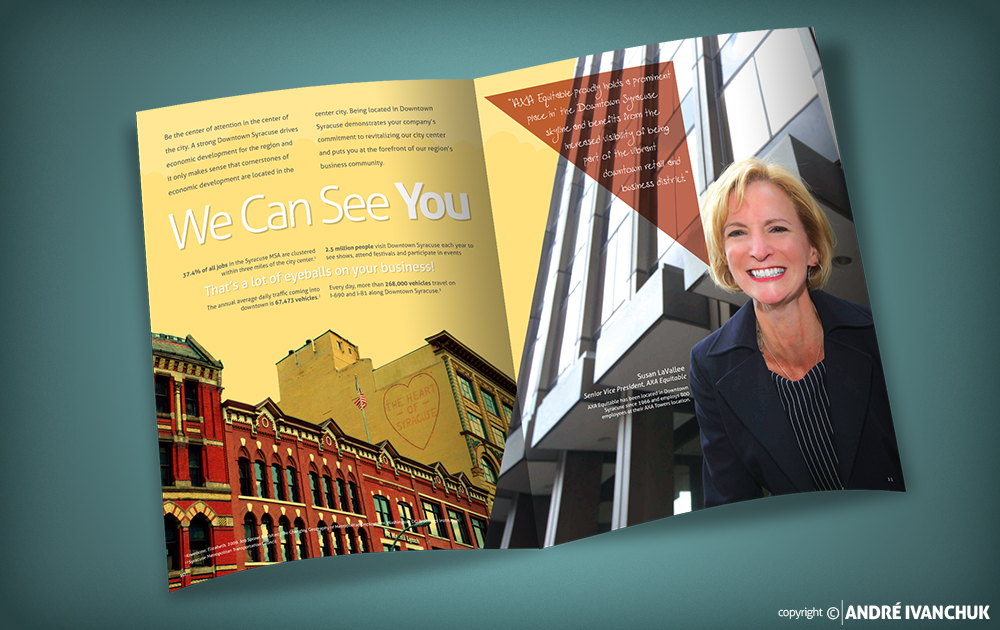 downtown committee of syracuse think syracuse brochure susan lavallee
