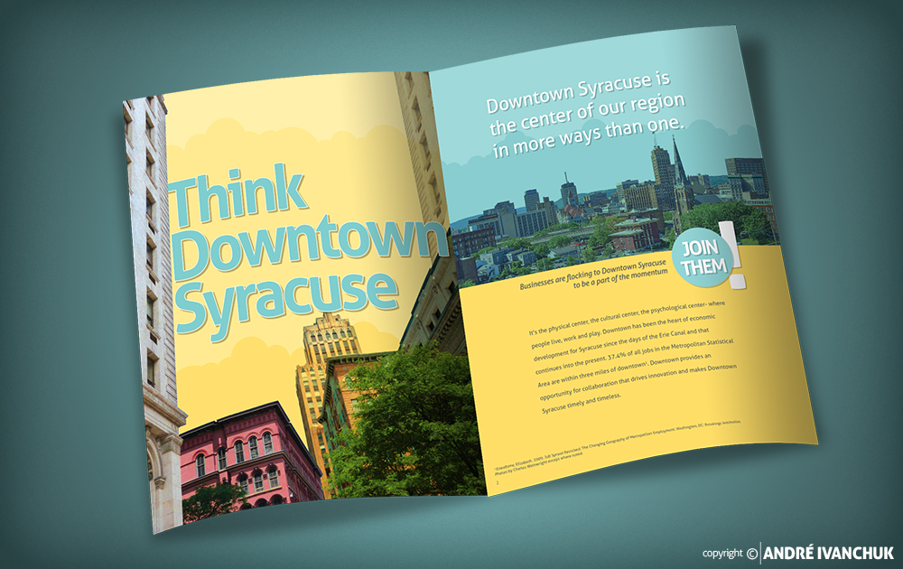 downtown committee of syracuse think syracuse brochure