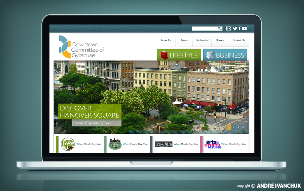 Downtown Committee of Syracuse Website Design