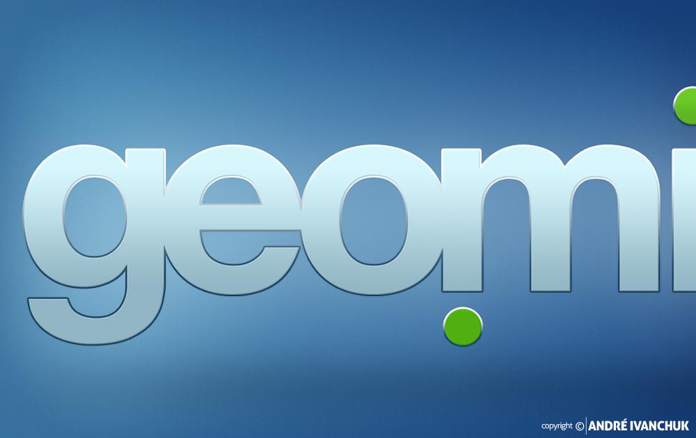 geomium logo design closeup
