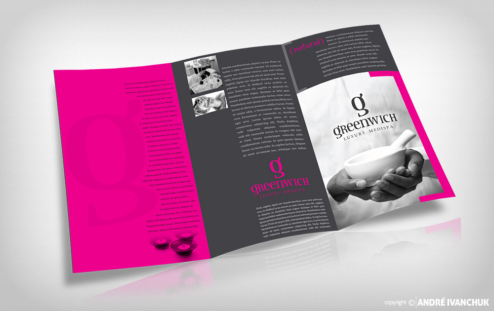 greenwich luxury spa branding package